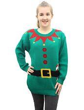 Ladies Mens Unisex Novelty Winter Vintage Retro Christmas Elf Santa Jumpers Xmas