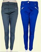 New Ex Jasper Conran Ladies Blue Khaki Black 7/8 Crop Trousers Jeans Size 8 - 18