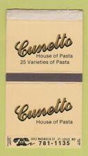 Matchbox - Cunetto Pasta House St Louis MO