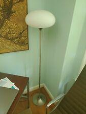 Vintage Laurel Floor Lamp / Frosted Glass Mushroom Shade