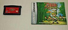 The Legend of Zelda THE MINISH CAP (Game Boy Advance) Rare CART + MANUAL GBA