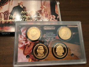 2007 Mint Proof Presidential Dollars Set