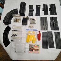 """Aurora"" Slot Car Track & Accessories H.O.Scale Vintage Large Lot / No Cars"
