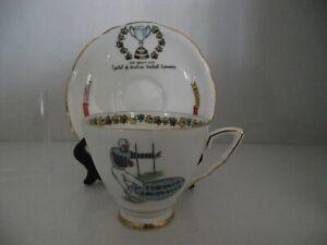Royal Stafford Football Series cup and saucer CFL 1950s Toronto Argonauts