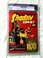 Shadow Comics #10 Street&Smith Pub May 1941 CGC 5.5(A) off-white to white pages