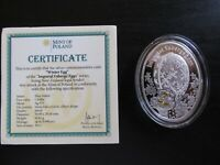 """2012 Nuie Island Faberge """"Winter Egg"""" Proof Silver"""