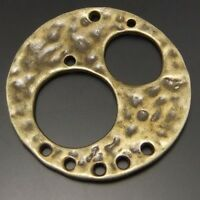 19pcs Antique Style Bronze Tone Alloy Circle In Circle Pendant Charms 28mm