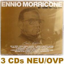 Ennio morricone vergogna - 50 Movie Themes (oro Edition) 3 CD NUOVO E OVP