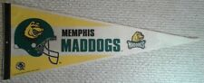 Vintage Memphis Mad Dogs Full Size CFL football Pennant CFLUSA