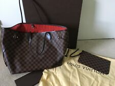 Louis Vuitton NEVERFULL mm DAMIER 100% Autentico con ricezione e polvere sacchetto.