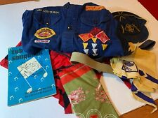 Cub Scout Boy Scout of America Lot Shirt Belts Scarves Hats Caps Songbook 1966