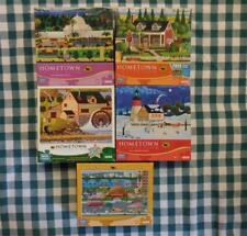 Lot of 5 HERONIM 1000 pc Puzzles HOMETOWN COLLECTION Brown Derby,Old Cider Mill