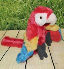 "Wild Republic SCARLET MACAW 8"" Plush Cuddlekins Red Parrot Stuffed Bird NEW"