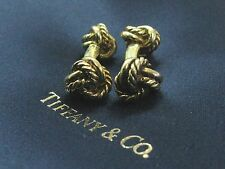 Tiffany & Co 18Kt Yellow Gold Knot Cuff Links