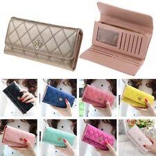 Women Crown Clutch Long Purse PU Leather Wallet Card Holder Handbag Superior AU