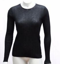 Balenciaga Knits 40 M Medium Black Sweater Top Ribbed Light Knit Cashmere Blend