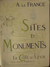 SITES ET MONUMENTS LA CÔTE D'AZUR VAR ALPES MARITIMES TOURING CLUB FRANCE 1903
