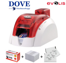 EVOLIS PEBBLE 4 CARD PRINTER - Fire Red (New Case Fitted)