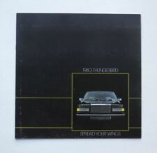 1980 Ford Thunderbird Brochure Town Landau
