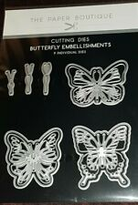 Paper boutique dies *Butterfly Embellishments* NEW * 9 Dies *