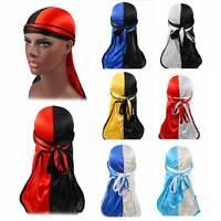 Unisex Silky Durag Bandanna Turban Hat Mens Wigs Rag Biker Headwear Headband AU