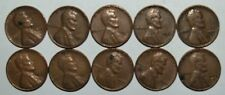 Lincoln Wheat Cent Penny - Lot of 10 Coins - Mixed Dates: 1950 - 1958 (lot# 22)
