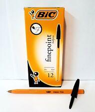 BIC Cristal Fine Point Ballpoint Pens Black Box of 12 - BA10141