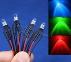 4Pin 5mm Diffused/Water Clear RGB 12V DC Pre Wired LED Lamp Prewired Light
