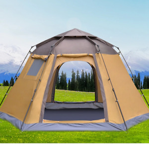 Popup Automatic Tent 4 Person Instant Camping Tent Backpacking Family Dome Tent
