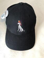 New NWT CapAmerica Fire Rescue Dog Dalmatian Golf Hat Flexfit Size L/XL Black