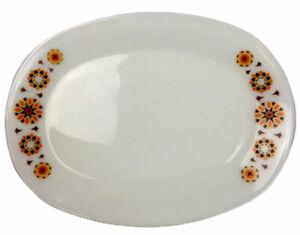 Vintage retro James A Jobling 1960s 660 Milk glass Platter Steak Plate Toledo