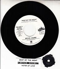 "BRYAN ADAMS  Heat Of The Night 7"" 45 rpm vinyl record NEW + jukebox title strip"