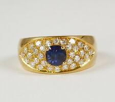 alta qualità: Anello con magnifica zaffiro e 0,64 carati PURISSIMO brillante