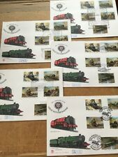 More details for 5 x great western railway 150th anniversary special hand stamped fdc 1985