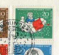 Bund Nr. 539 II gestempelt auf FDC Plattenfehler PF Brüder Grimm Michel -- . --