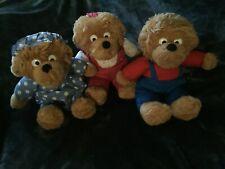 Berenstain Bears Plush Lot Mama,Sister & Brother Bear