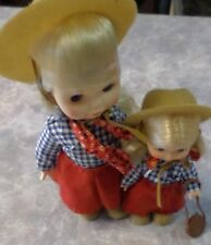 Vintage Uneeda 1981 The Two of Us Goes West Cowgirl Doll Set Blonde 7-10""
