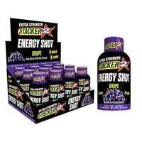 Stacker 2 XTRA Grape - Box 24 Bottles - Energy Shot Drink Extra Strength - 2oz