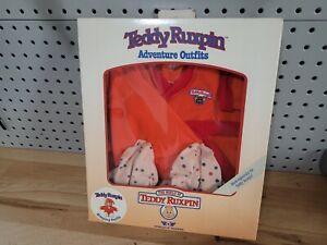 1985 TEDDY RUXPIN Teddy Bear Adventure Sleeping Outfit Worlds of Wonder  NEW