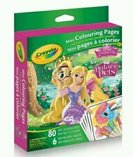 crayola mini coloring pages 80 pages 6 mini markers 11 characters u choose