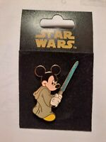 Star Wars Mickey Mouse as Jedi Luke w/ Blue Lightsaber Disney Pin. BRAND NEW