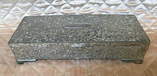Godinger Silver Plated Embossed Art Nouveau Footed JEWELRY BOX Oblong Rectangle