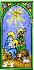 Nativity Holy Family Christmas Wood Mounted Rubber Stamp NORTHWOODS O9668 New
