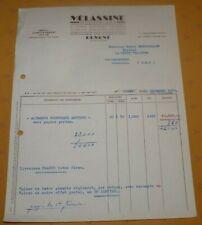 Ancienne facture Mélassine à Domont  Aliments composés mélassés  Estouches 1959