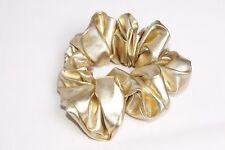 Bright Metallic Gold Eccentric Style Girly Hair Scrunchy (s140)
