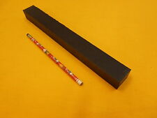 "1"" x 1 1/4"" x 12""  BLACK UHMW BAR - plastic flat stock"