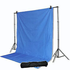 VIDEO CHROMAKEY BLUE 10x12ft SCREEN SUPPORT STANDS KIT