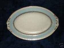 Federal Blue Homer Laughlin Sm Platter Relish Gravy Underplate 22 ct gold trim!