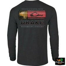 NEW DRAKE WATERFOWL SYSTEMS SHOTSHELL LOGO L/S T-SHIRT TEE
