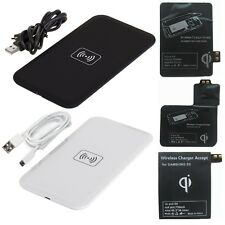 Qi Wireless Charger Pad + Receiver Kit for Samsung Galaxy S3 S4 S5 NOTE 3 4 USA